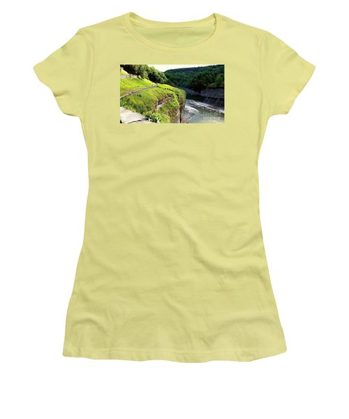 Women's T-Shirt (Junior Cut) featuring the photograph Canyon  by Raymond Earley