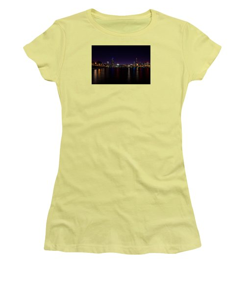 Women's T-Shirt (Junior Cut) featuring the photograph Chicago-skyline 2 by Richard Zentner