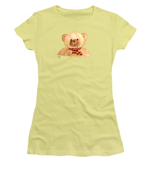 Cuddly Bear Women's T-Shirt (Junior Cut) by Angeles M Pomata
