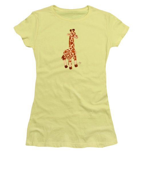 Cuddly Giraffe Women's T-Shirt (Junior Cut)