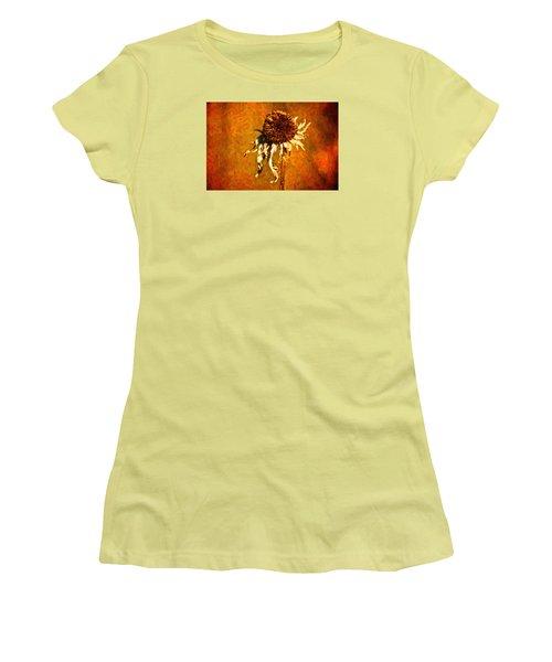 Dead Flower Women's T-Shirt (Junior Cut) by Andre Faubert