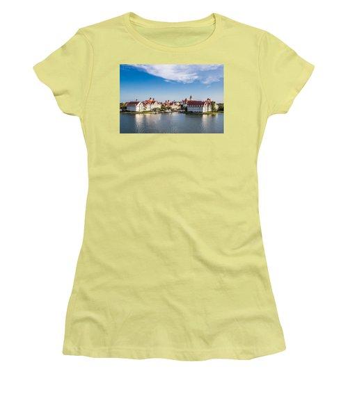 Disney's Grand Floridian Resort And Spa Women's T-Shirt (Junior Cut) by Sara Frank
