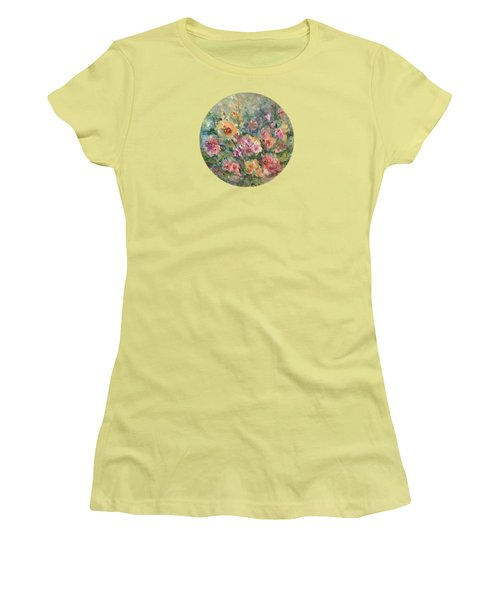 Floral Painting Women's T-Shirt (Athletic Fit)