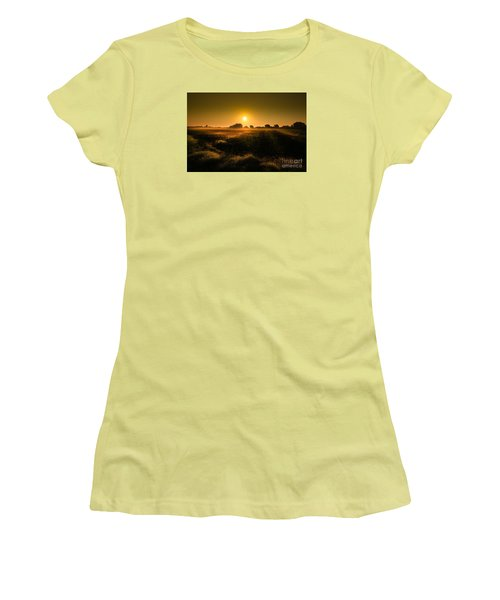 Women's T-Shirt (Junior Cut) featuring the photograph Foggy Morning by Franziskus Pfleghart