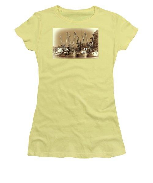 Georgetown Shrimpers Women's T-Shirt (Junior Cut) by Bill Barber