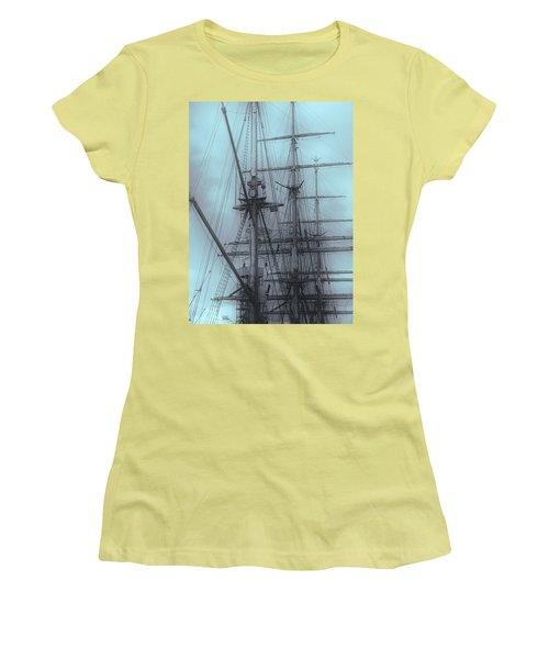 Women's T-Shirt (Junior Cut) featuring the photograph Gorch Fock ... by Juergen Weiss