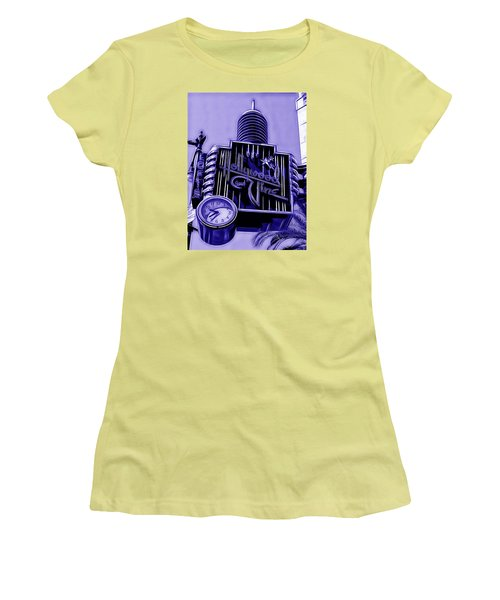 Hollywood And Vine Street Sign Collection Women's T-Shirt (Athletic Fit)