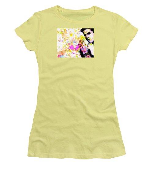 Women's T-Shirt (Junior Cut) featuring the mixed media Kaka by Svelby Art