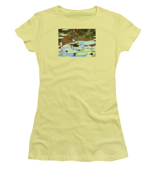 Lily Pond Women's T-Shirt (Junior Cut) by Kay Gilley