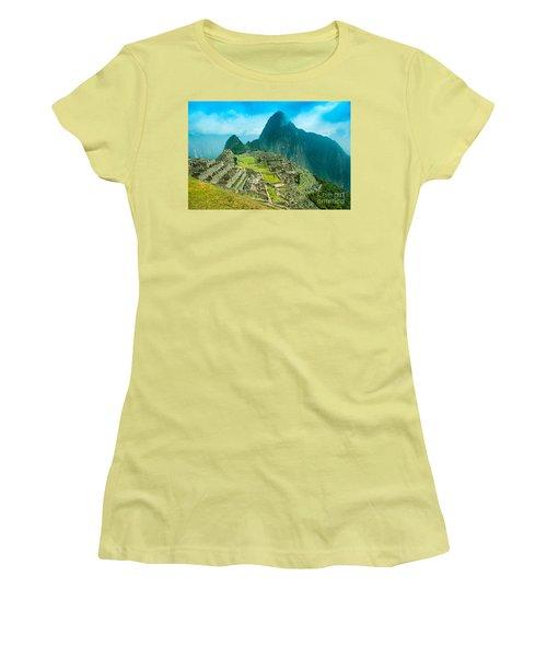 Machu Picchu  Women's T-Shirt (Junior Cut) by Mariusz Czajkowski