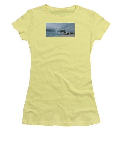 Mahahual Women's T-Shirt (Junior Cut) by Angel Ortiz