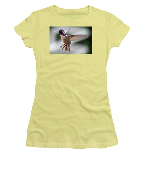 Male Anna's In Flight Women's T-Shirt (Athletic Fit)