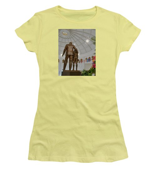 Women's T-Shirt (Junior Cut) featuring the photograph Milton Hershey And The Boy by Mark Dodd