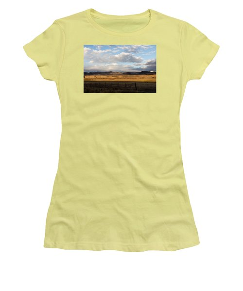Mountain Meadow And Hay Bales In Grand County Women's T-Shirt (Junior Cut) by Carol M Highsmith