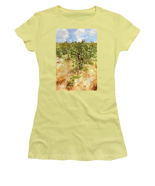 Napa Vineyard In The Spring Women's T-Shirt (Athletic Fit)