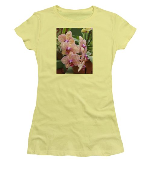 Women's T-Shirt (Junior Cut) featuring the photograph Orchid by Christian Zesewitz