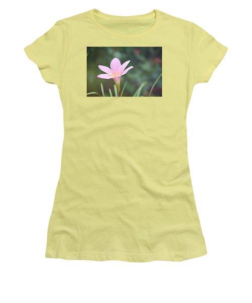 Pink Flower Women's T-Shirt (Junior Cut) by Gordana Stanisic