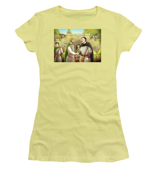Robin Hood And The Captain Of The Guard Women's T-Shirt (Junior Cut) by Reynold Jay