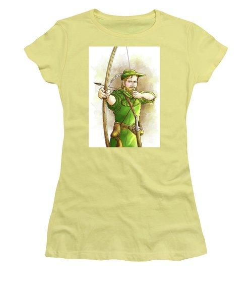 Robin Hood The Legend Women's T-Shirt (Junior Cut) by Reynold Jay
