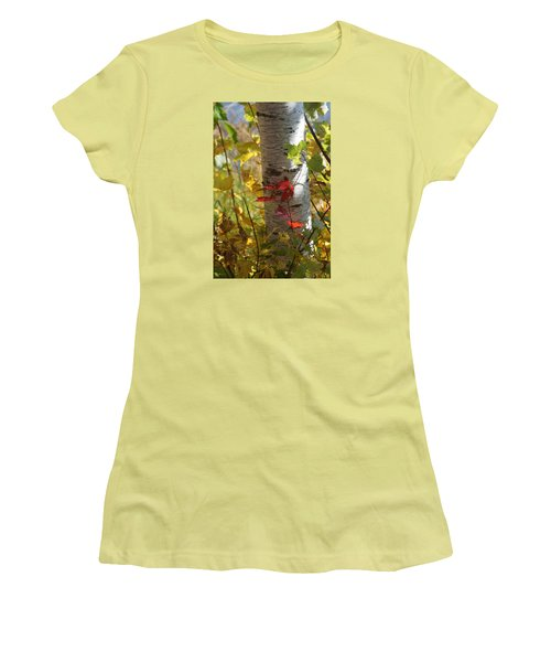 Women's T-Shirt (Junior Cut) featuring the photograph Seeing Red by Judy  Johnson