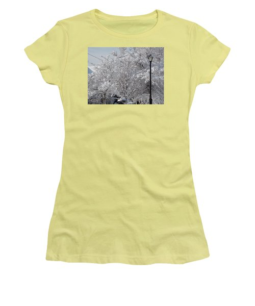 Snow Covered Trees Women's T-Shirt (Athletic Fit)