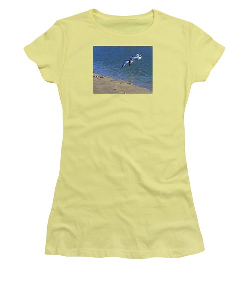 2 Terns In Flight Women's T-Shirt (Athletic Fit)