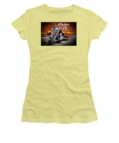 The Indian Motorcycle Women's T-Shirt (Junior Cut) by David Patterson