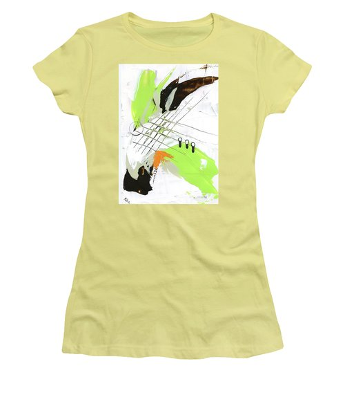 Women's T-Shirt (Junior Cut) featuring the painting Three Color Palette by Michal Mitak Mahgerefteh
