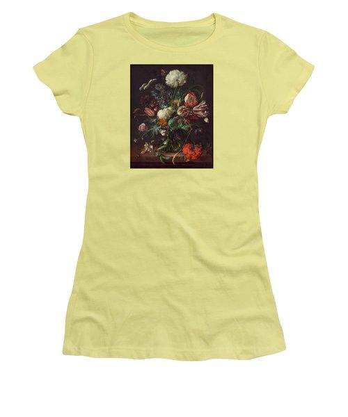 Vase Of Flowers Women's T-Shirt (Junior Cut) by Jan Davidsz de Heem
