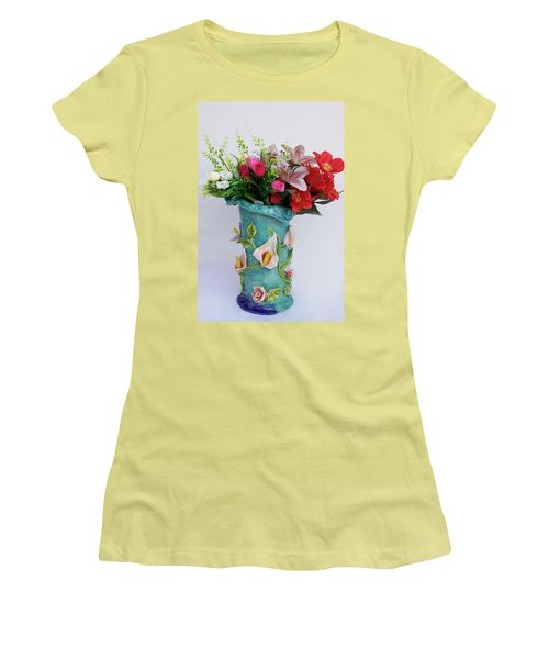Vase, Rose Calla Women's T-Shirt (Athletic Fit)