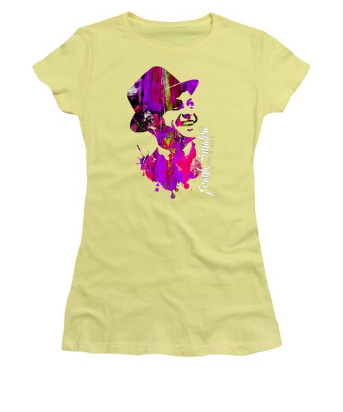 Frank Sinatra Collection Women's T-Shirt (Junior Cut) by Marvin Blaine