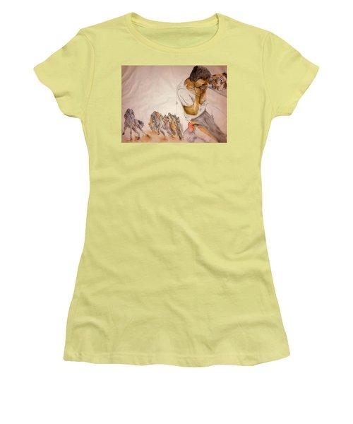 Il Palio Contrada  Lupa Album Women's T-Shirt (Junior Cut) by Debbi Saccomanno Chan