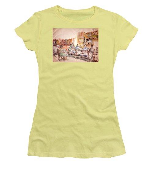 Of Clogs And Windmills Album Women's T-Shirt (Junior Cut) by Debbi Saccomanno Chan