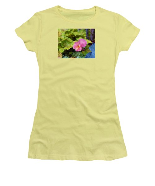 2015 After The Frost At The Garden Pansies 3 Women's T-Shirt (Junior Cut) by Janis Nussbaum Senungetuk