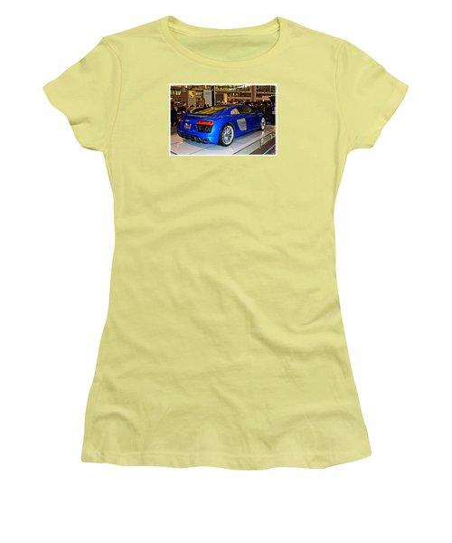 2016 Audi R8 Women's T-Shirt (Junior Cut) by Mike Martin