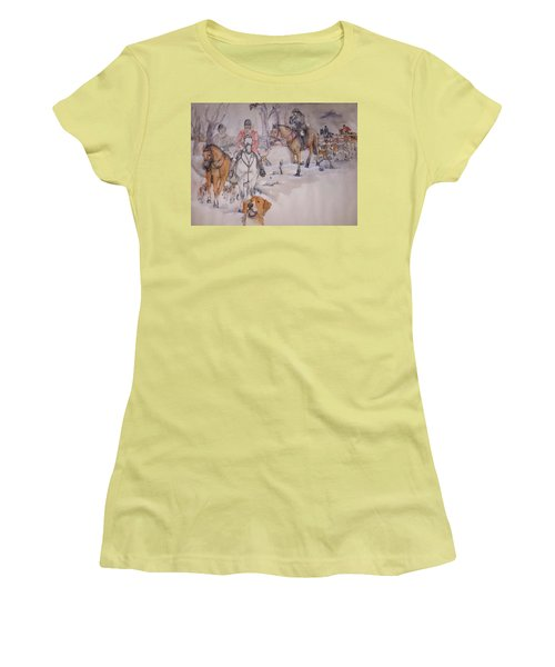 Talley Ho Album  Women's T-Shirt (Junior Cut) by Debbi Saccomanno Chan