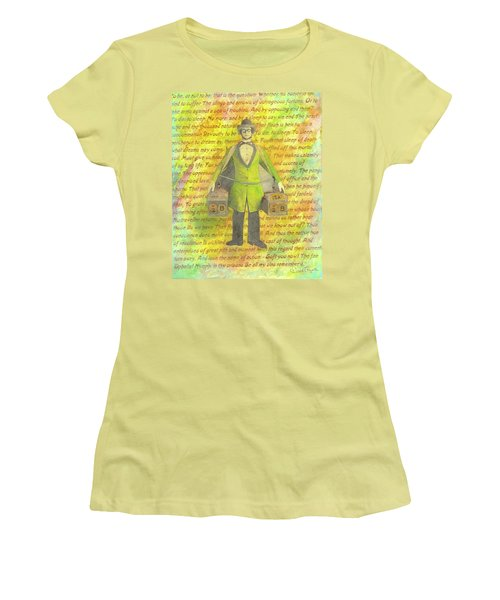Women's T-Shirt (Junior Cut) featuring the mixed media 2b Or Not 2b by Desiree Paquette