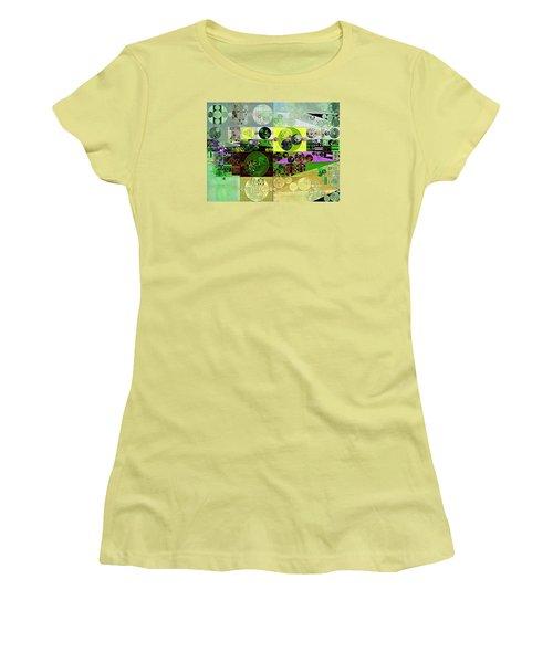 Abstract Painting - Black Bean Women's T-Shirt (Junior Cut) by Vitaliy Gladkiy
