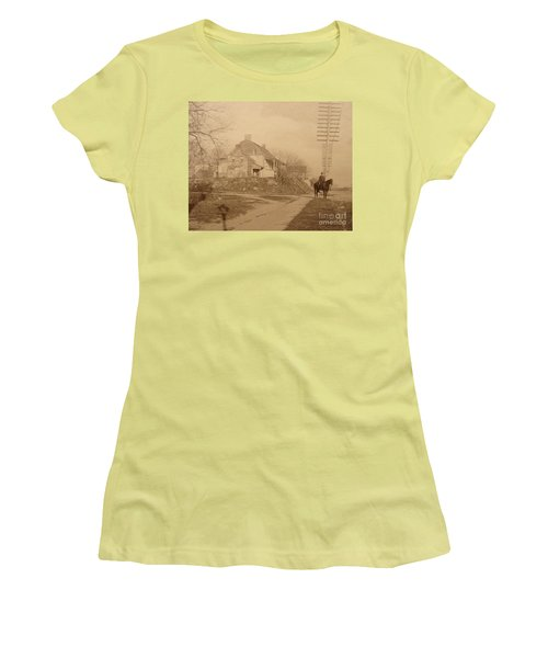 Dyckman Farmhouse  Women's T-Shirt (Junior Cut) by Cole Thompson