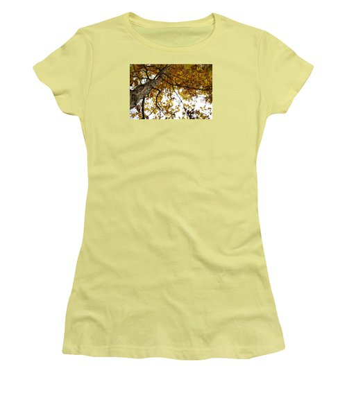 Women's T-Shirt (Junior Cut) featuring the photograph Fall by Heidi Poulin