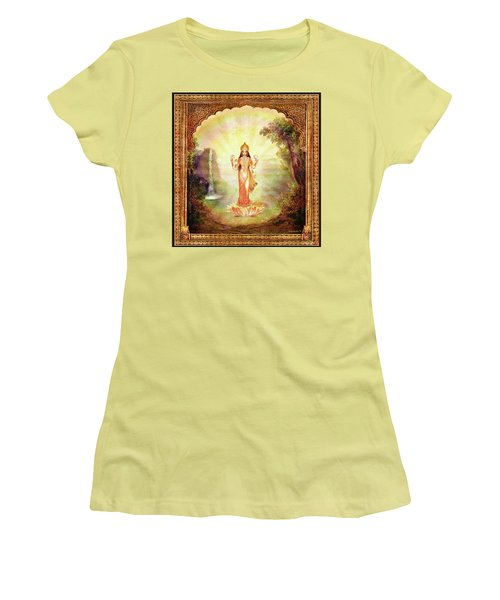 Lakshmi With The Waterfall Women's T-Shirt (Junior Cut) by Ananda Vdovic