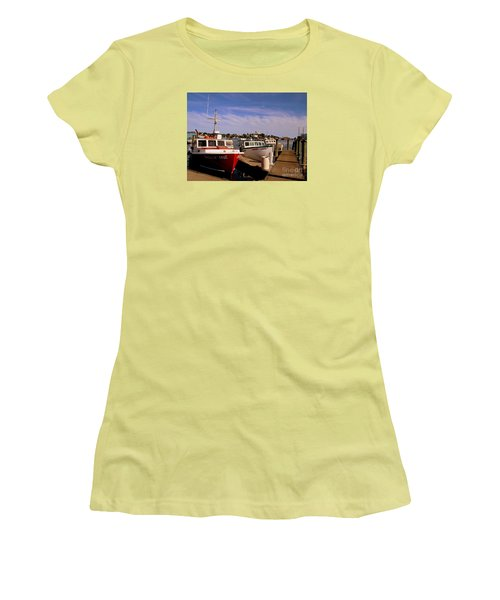 Lobster Boats Women's T-Shirt (Athletic Fit)