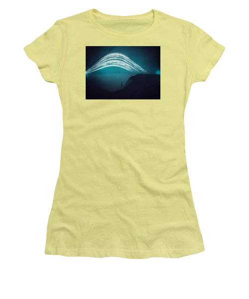 3 Month Exposure At Beachy Head Lighthouse Women's T-Shirt (Athletic Fit)