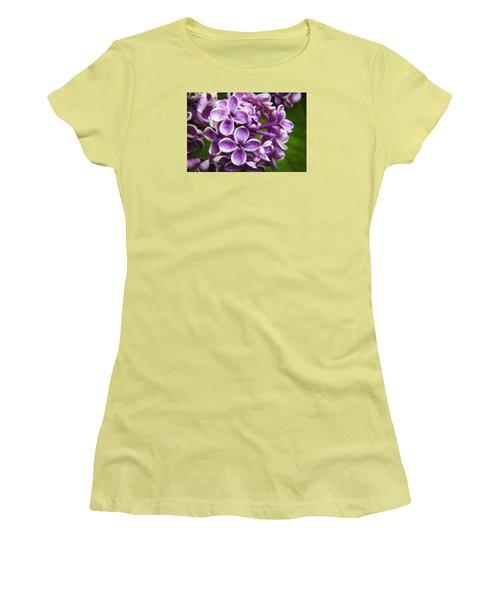 Pink Flowers Women's T-Shirt (Junior Cut) by Andre Faubert