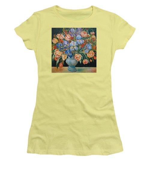 Tulips Women's T-Shirt (Junior Cut) by Alexandra Maria Ethlyn Cheshire
