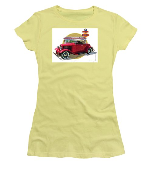 32 Red Roadster Women's T-Shirt (Junior Cut) by Kenneth De Tore