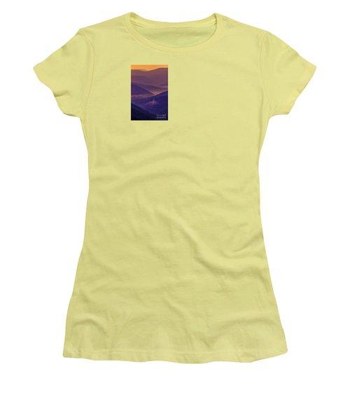 Allegheny Mountain Sunrise Women's T-Shirt (Junior Cut) by Thomas R Fletcher