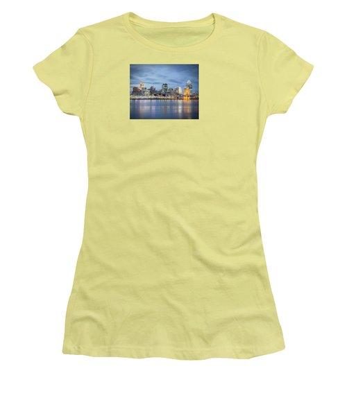 Cincinnati, Ohio Women's T-Shirt (Junior Cut) by Scott Meyer