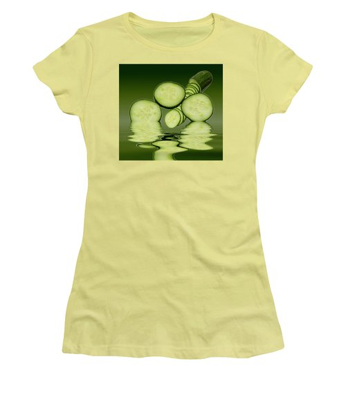 Cool As A Cucumber Slices Women's T-Shirt (Junior Cut) by David French