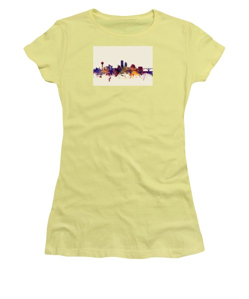 Knoxville Tennessee Skyline Women's T-Shirt (Athletic Fit)